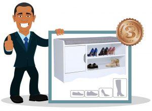 Banc de rangement à chaussures Ease