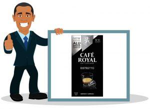 Dosette Nespresso Café Royal Ristretto 100 Capsules