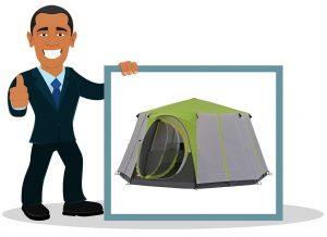 Tente de camping familiale Coleman Tente Octagon 6 à 8 Places