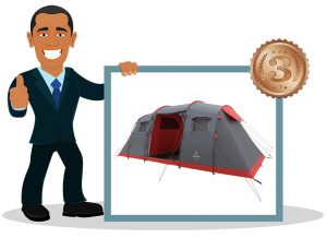 Tente de camping familiale JUSTCAMP Lake 6