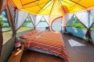 tente de camping familiale 5 places