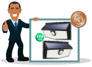Eclairage solaire extérieur Mpow 300 LED