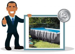 Enrouleur bâche de piscine INTEX