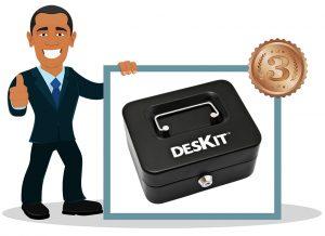 Caisse à monnaie Deskit 8 pouces