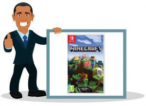 Jeu vidéo switch enfant Minecraft