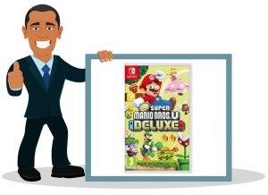 Jeu vidéo switch enfant New Super Mario Bros. U Deluxe