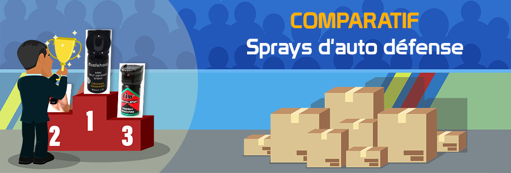 comparatif Sprays d'auto défense