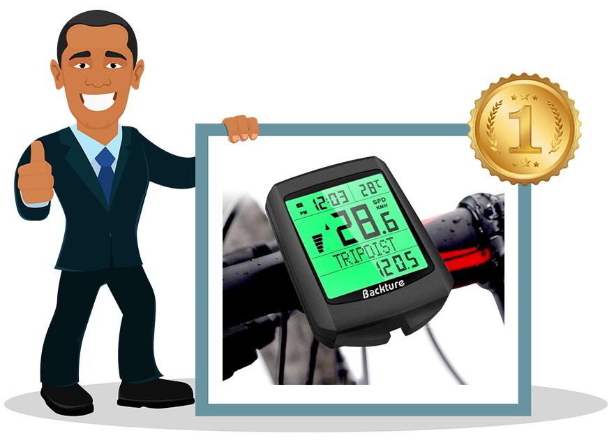 DINOK Ordinateur de vélo sans fil étanche Compteur de vitesse kilomètre VTT VELO
