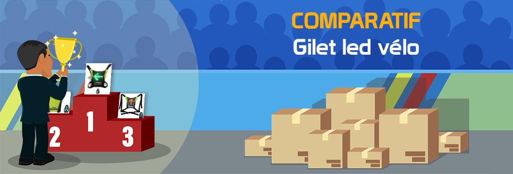 comparatif Gilet led vélo