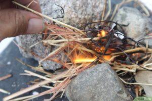 faire un feu sans allumette