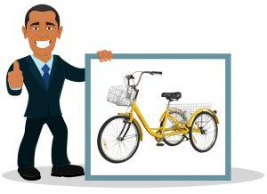 Vélo 3 roues adulte 24 pouces 7 vitesses OneV FT