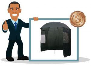 Parapluie de pêche vidaXL